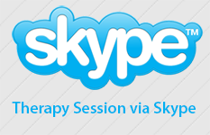 Conduct a therapy session via Skype